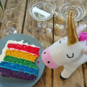 Parties and Rainbow cakes